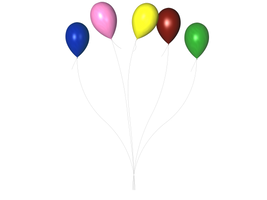 STOCK PNG multi colour balloon by MaureenOlder