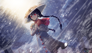 Illusionary White Traveler - Narumi Yatadera by lynncholy