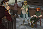 Kvothe's trial by Carnath-gid