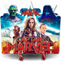 Captain Marvel movie folder icon v2 by zenoasis