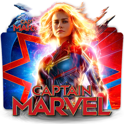 Captain Marvel movie folder icon v4 by zenoasis