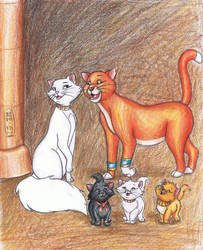 The Singing Temple Cats by MyWorld1