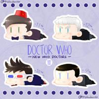 NewWho Doctors Sticker Set by MsRandom1401