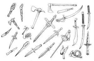 Weapons by Papposilenos