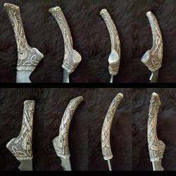 Celtic antler handle by jedlybravo