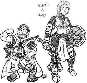 Commission: Aleena and Daxter by binkibonsai