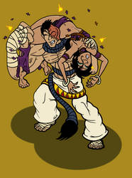 Sati vs Sakhmet - Heartbreaker by binkibonsai