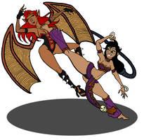 Sati vs Vanessa Round 1 by binkibonsai
