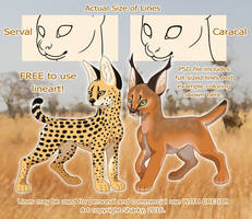 African Cat Lines by Sharky [FREE TO USE] by albinosharky