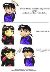 Miroku's like a cowboy... by Frozen-Fortune