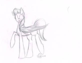 Crappy Sky Dancer Sketch by CarolineSunset