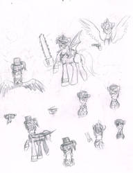 Random Black Butler sketches by CarolineSunset