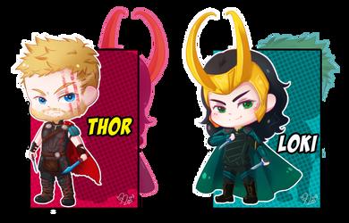 Thor and Loki by MitskiMing