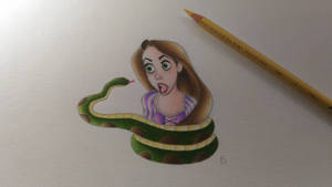 Fan request: A snake wrapping Rapunzel by faby21draw