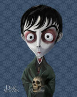Dark Shadows Barnabas Portrait by wflead