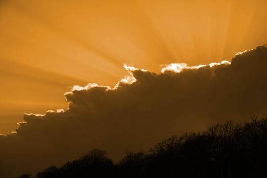 orange sky by aaronbee