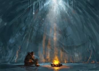 inside a glacier by AndyFil