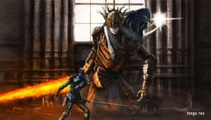Dark Souls 3 - Lothric and Lorian by OniRuu