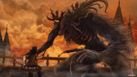 Bloodborne - Cleric Beast by OniRuu