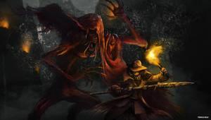 Bloodborne - Blood-Starved Beast by OniRuu