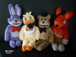 Five Nights at Freddy's Plushie - The gang by HipsterOwlet