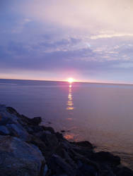 Sunrise on Mediterranee by Garbatine