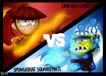 Kung Fu Brawl-Lincoln vs Spongebob by yipkarhei2001