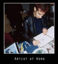 Artist At Work : Jhonen V by photomars