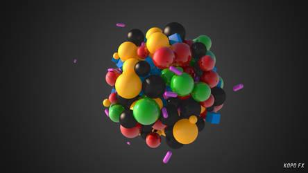 3D Particles Wallpaper by kopofx