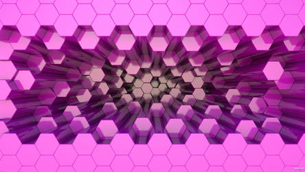 3D Hexagons Wallpaper 3 by kopofx