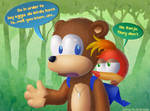 Banjo Bears A Question by kjsteroids