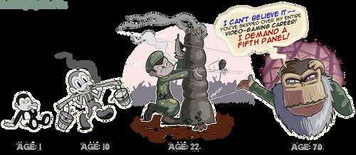 Along the Timevine: Cranky Kong by kjsteroids