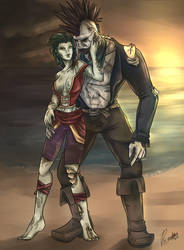 Collab: Rogue couple by Falaa-Art