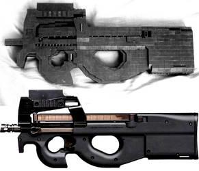 PyBrick Replicas FN P90 v1 by xjcdentonx