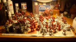 Bronze Wyrms on the Painting Table by La-Bomba-Frita