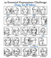 25 Expressions - Audriel by slyeagle