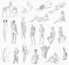 Life Drawing - 10 minutes by slyeagle