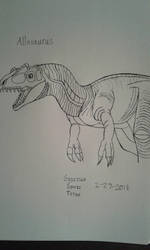 Allosaurus by GodzillaSonicTitan