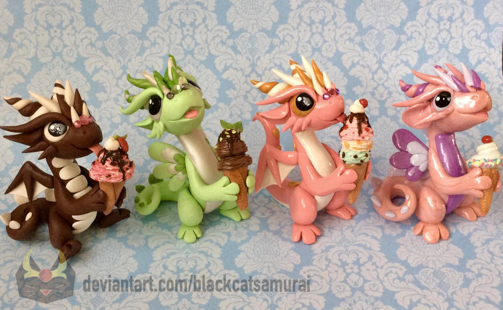 Ice Cream Dragons by BlackCatSamurai