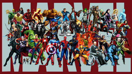 Marvel Super Heroes - Wallpaper by StingerTheOverLord