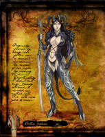 Tiefling Warrior by thedarkestseason