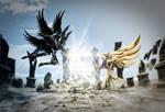 Hades vs Athena by reinohvp