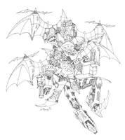 Linework : Skywarp and Thundercracker from HOS by Utsugimj