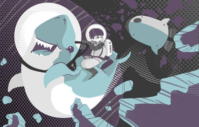 Space Shark! by Lexie-Holliday