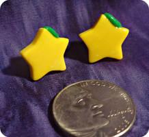 Kingdom Hearts Paopu Fruit Stud Earrings by TheGeekEmporium