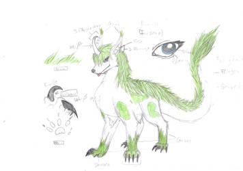 Design of my Fursona by roxasgirl1803