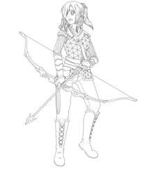 DnD Half Elf Character Leilani Yara by roxasgirl1803