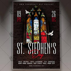 Saint Stephen's Day Flyer - PSD Template by PSDmarket