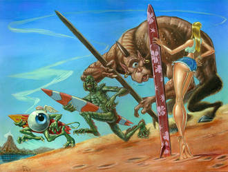 Whiplash on Monster Island by soul71