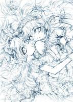 twins... pencil sketch by sureya